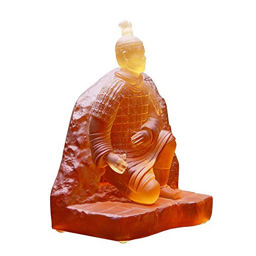 GWFVA Guerreros de Terracota vidriada con Estatua de Vidrio, figurilla