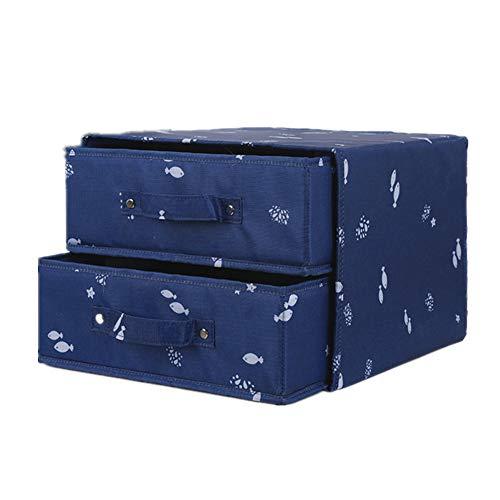 Unterwäsche BH Schublade Veranstalter waschbar Multifunktions staubdicht Oxford Tuch Material Höschen Socke Aufbewahrungsbox,darkblue 806 Oxford