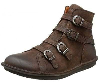 boots kickers waxing marron foncé femme kickers z34kick102