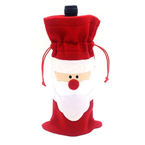 Jentay santa claus wine bottle cover christmas dinner party table d ¨ ¦ cor