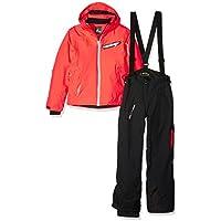 Peak Mountain GasTec - Conjunto de esquí para niña, Color Corail/Noir, tamaño 12 años