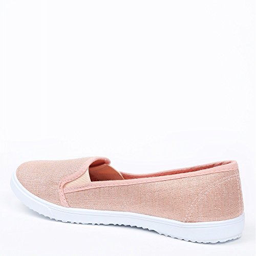 Ideal Shoes Sneakers slip-on glitzernd Dariane Gold - champagne