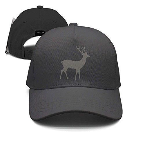 Wolanim Grey Deer Unisex Baseball Cap Snapback Hip Hop Caps Fitted Sport Sun Hats Orange Scrub Cap