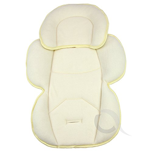 OLO BABY Infant Snuzzler Head Hugger & Full Body Support Liner for Car Seat Buggy Pushchair (cream)