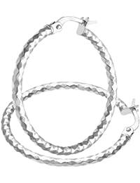 Citerna - SIL1309W - Boucles d'Oreille Femme - Or Blanc 375/1000 (9 Cts) 1.0999999999999999 Gr - Verre