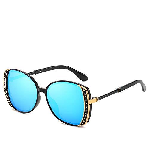 WLNKJ New Trend Big Box Damen Polarisierte Sonnenbrille, Net Rote Sonnenbrille Anti-UV-Sonnenbrille,B