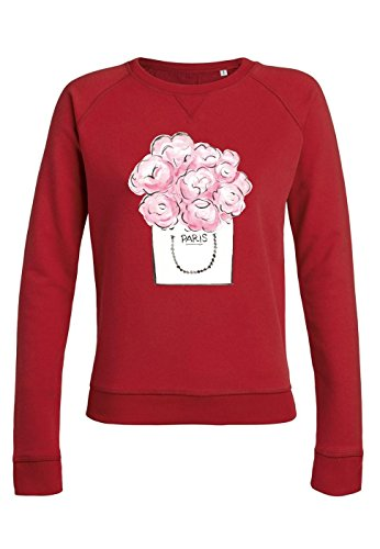 ul21 Sweat pour femmes Trips Paris Pink Flower red