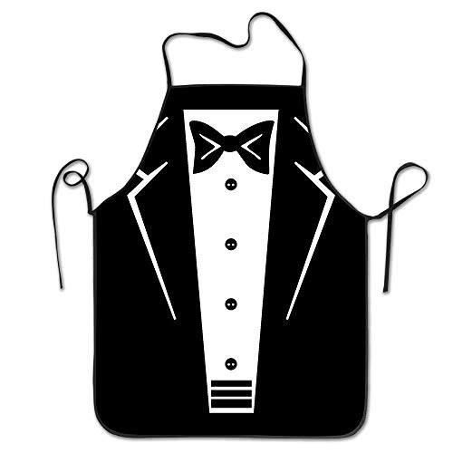 Drempad Schürzen Tuxedo with Black Bow Tie Deluxe Aprons Personalized Printing Kitchen Apron