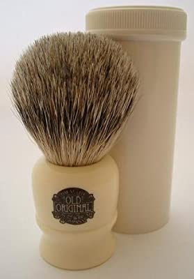 Progress Vulfix 2190 Pure Badger hair travel shaving brush with tube, white by Progress Vulfix