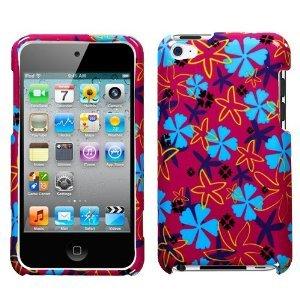 Blume Flake Faceplate Cover Schutzhülle Handy Displayschutzfolie für Apple iPod Touch (4. Generation) -