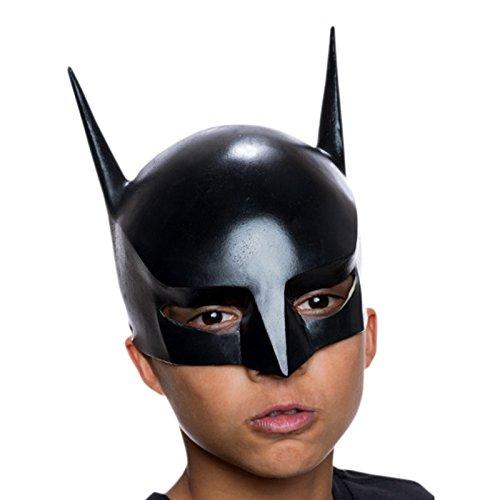 Batman Halb Maske Kinder zur Serie Beware the Batman Vinyl mit flexiblem Gummiband Kostüm Zubehör