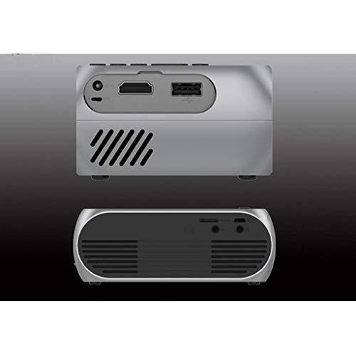 jkl Kleiner tragbarer wiederaufladbarer Videoprojektor - Unterstützt 1080P, 60-Zoll-kompatiblen PC/Mac/TV/DVD/iPhone/iPad/USB/SD/AV/HDMI für Heimkino/Outdoor/Videospiele,Weiß,ge Ge Dvd-player