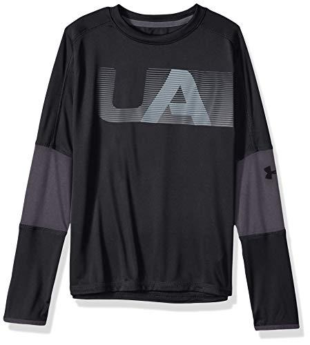 Under Armour Jungen Tech LS Tee Langarmshirt, Black(001), YXL