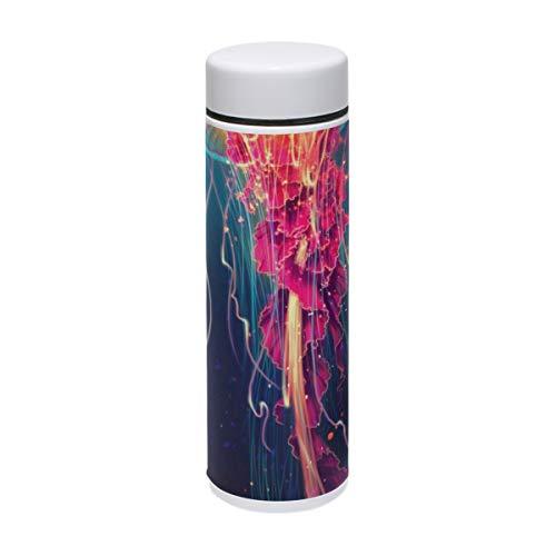 BIGJOKE Vakuumflasche, abstrakte Quallen, Art Trinkflasche aus Edelstahl, isoliert, Thermosflasche für Kinder, Baby Wandern, 220 ml
