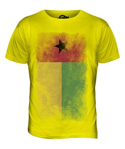CandyMix Guinea-Bissau Verblichen Flagge Herren T Shirt Zitronengelb
