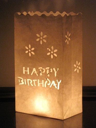 10 bolsas de velas linternas de papel blanco de luz de te feliz cumpleaños [version:x6.8] by DELIAWINTERFEL
