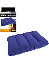 Milestone Camping Inflatable Travel Pillow - Blue