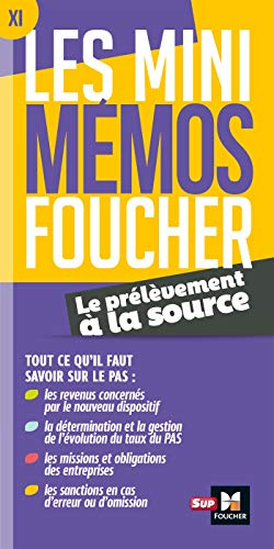Les mini memos Foucher - Prélèvement à la source