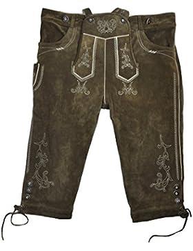 Herren Trachten Lederhose in Antikbraun, Art. Max