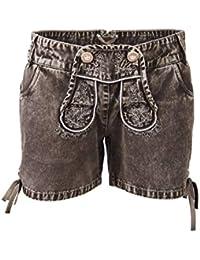 Esmara Damen Trachtenhose Short Jeans - Ideal für s Oktoberwest Wiesn aus  Baumwolle Stoff für Frauen 1678a98cff