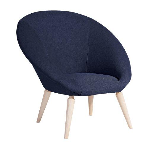 Max Winzer 2855-1100-1645246 Sessel Loop, Einzelsessel, Flachgewebe dunkelblau