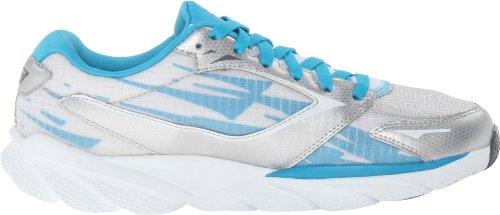 Skechers - Scarpa da corsa, , taglia Argento (Silver/Blue)