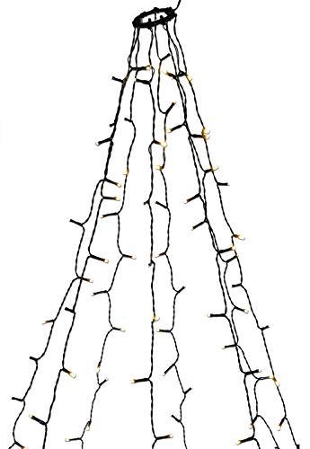 Baum-Lichterkette 300 LED mit Ring zum einfachen Aufhängen