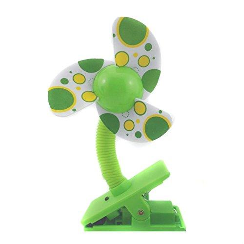 Fenrad ® Cute Portable Mini Baby USB und Batterie Dual-verwenden Clip-on Stroller Fan Clip Lüfter Tischventilator für Trolley Ventilator Kinderbett Kinderwagen Outdoor Camping Auto (Farbe im Random / Mit USB Kabel)
