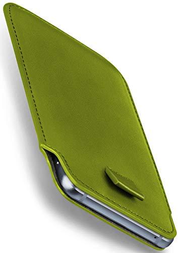 moex Apple iPhone 5S | Hülle Grün Sleeve Slide Cover Ultra-Slim Schutzhülle Dünn Handyhülle für iPhone 5/5S/SE Case Full Body Handytasche Kunst-Leder Tasche (Iphone 5s Case-tasche Für Frauen)