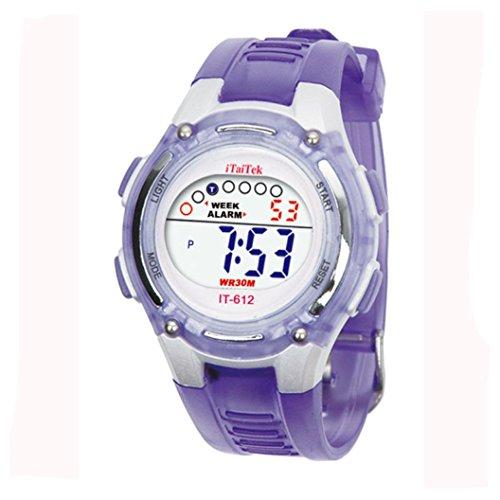 LSAltd Schüler Uhr, Cute Flower Print Zeit Digitaluhr Jungen Mädchen Adjustable Elektronische AdWrist Sportuhr \ Schule, Party, Bibliothek (C)