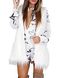 Tongshi Caliente Outwear mujeres sin mangas blanco Slim chaleco piel sintética chaleco chaqueta abrigo