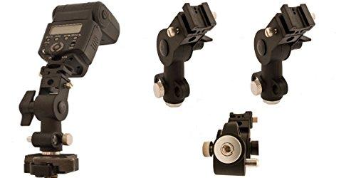 2 Stück flexible Halter für Aufsteckblitzgeräte mit Aufnahme für Studioschirme und Standardgewindeaufnahme 1/4 (3/8 Zoll)