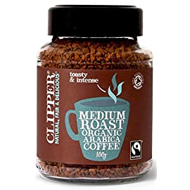 Clipper Fairtrade Medium Roast Organic Arabica Coffee 100 g (Pack of 2)