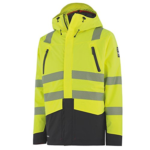 Helly Hansen Workwear Warnschutz Oslo H2 Flow Cis CL 3 Arbeitsjacke, L, gelb, 71364 (Polartec 200 Hose Fleece)