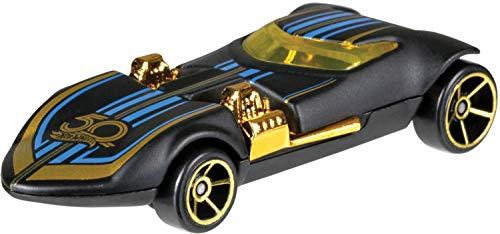 Hot Wheels FRN33 50th Anniversary Black & Gold Themed 1:64 Die-Cast Fahrzeug in Jubiläumsedition, je 1 Spielzeugauto, zufällige Auswahl, ab 3 Jahren (Wheels Fall Auto Hot)