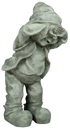 Dekofigur Wichtel Gnom Granit look Gartenfigur 32 cm Gartenzwerg Gartendekoration