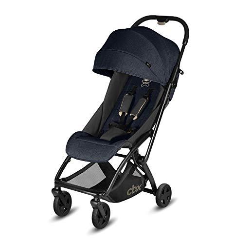 Cbx Etu - Silla de paseo, ultracompacta, incluye cubierta para lluvia, desde el nacimiento hasta los 15 kg, Jeansy Blue