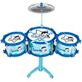 LINGLING-Tambor Tambores de percusión para niños 3-6 años Regalos de vacaciones de