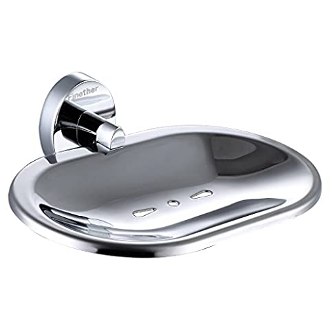 Finether High Quality Durable Bathroom Accessories Solid Brass Wall Mounted Soap Dish ,Chrome Finish