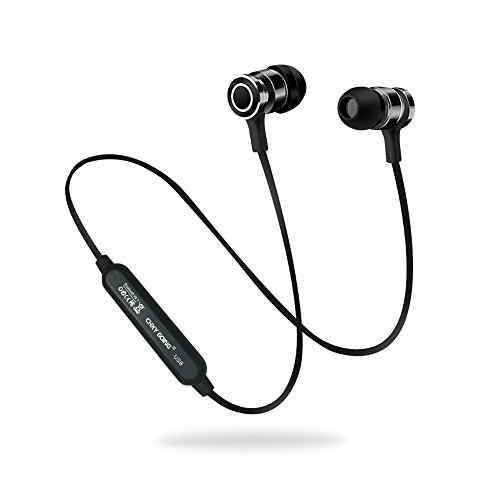 Auricolari bluetooth magnetici, chxygoing cuffie bluetooth 4.1 sportive, cuffie wireless stereo hd, noise cancelling avanzate con microfono per iphone, ipad, samsung, huawei, sony, xiaomi, lg (nero)