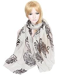 Calonice Amorino mit Zebra Muster Schlichtes modisches Halstuch oder Umhängetuch Schlauchschal mit elegantem schwarzem Pferd Muster Eine Größe 30200