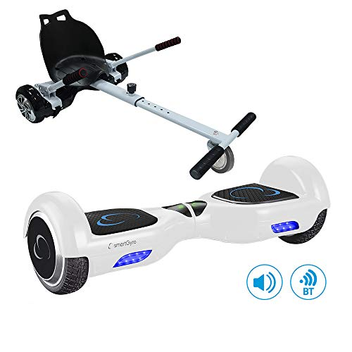 SmartGyro X2 UL+ GO KART PACK WHITE - Patín eléctrico X2 UL ( Hoverboard 6'5' con Ruedas Run-Flat)...