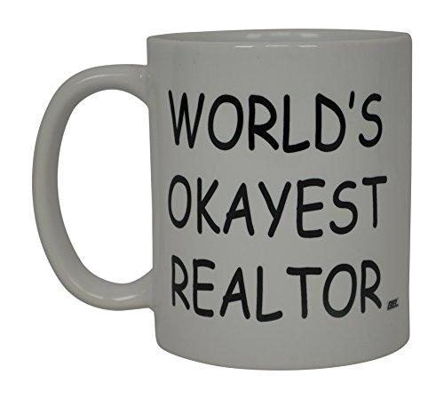 Kaffee Tasse Welten Okayest Realtor Beste Funny Makler Neuheit Cup Geschenkidee für Männer Frauen Büro Mitarbeiter Boss Kollegen - Mitarbeiter Real Ein