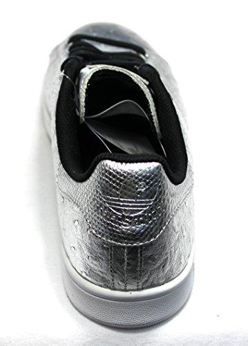 Adidas Stan Smith, Sneaker Unisex adulto SILVMT/SILVMT/FTWWHT AQ4706