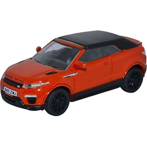 Land Rover Range Rover Evoque Convertible, orange, RHD, 0, Modellauto, Fertigmodell, Oxford 1:76