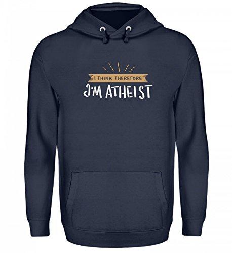 Atheist Pullover Herren Lustig Spruch I Think Therefore I'm Atheist Pulli Geschenk Idee Für Atheisten