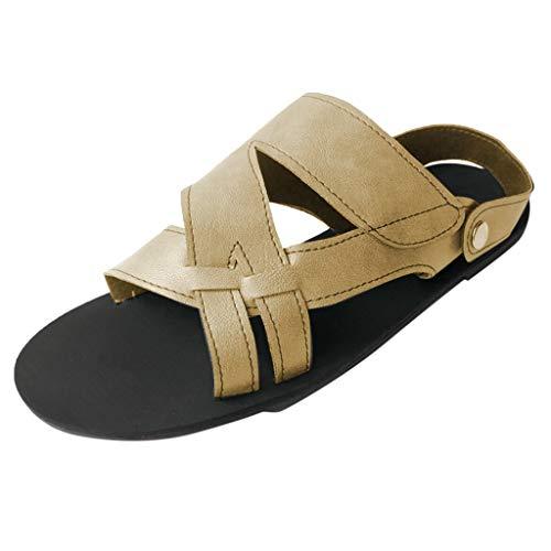 Wawer Damen Sandalen,Sommer Flach Elegant Studio Peep Toe Schuhe Mädchen Bequeme Atmungsaktiv Schnalle Sandalen
