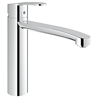 GROHE 31124002 Eurostyle Cosmopolitan Kitchen Tap (High Spout, 140 Degree Swivel Range and Starlight), Medium