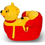 Baby Sofa Seat Cum Rocking 2in1 Pooh Cartoon Face With Safety Belt Ready To Use Made With Good Quality Material For Boys And Girls