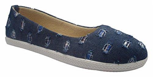 Sammy ballerines confort de glissement sur les chaussures penny loafer femmes flats chaussures Bleu marin